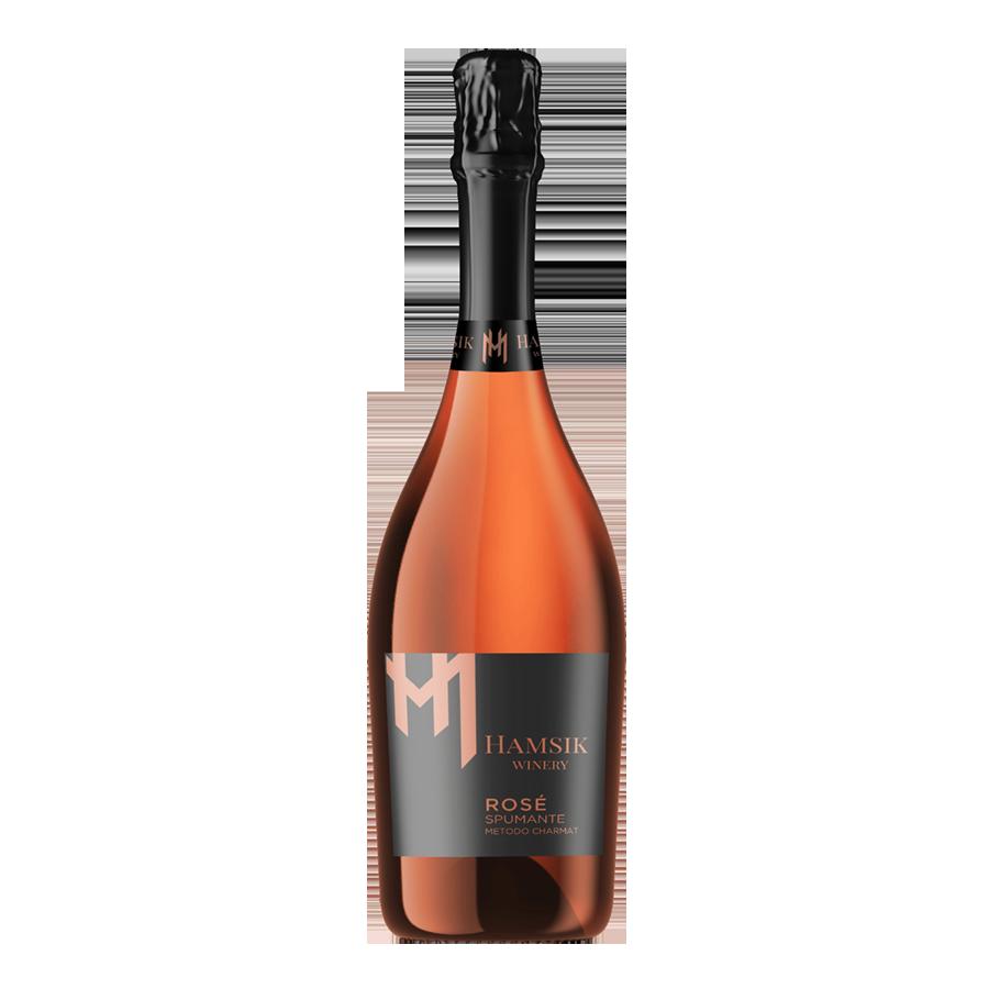 Fľaša šumivého ružového vína Hamsik winery ROSE SPUMANTE