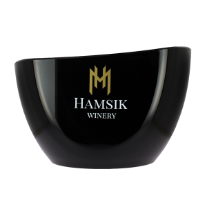 Dizajnový chladič čiernej farby Hamsik Winery na víno alebo prosecco