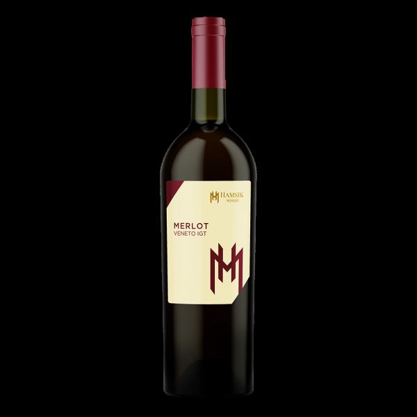 fľaša 0,75l talianskeho vína merlot veneto igt hamsik winery eshop