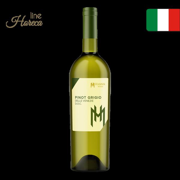 HAMSIK winery pinot grigio - Talianske biele víno - suché fľaša 0,75l