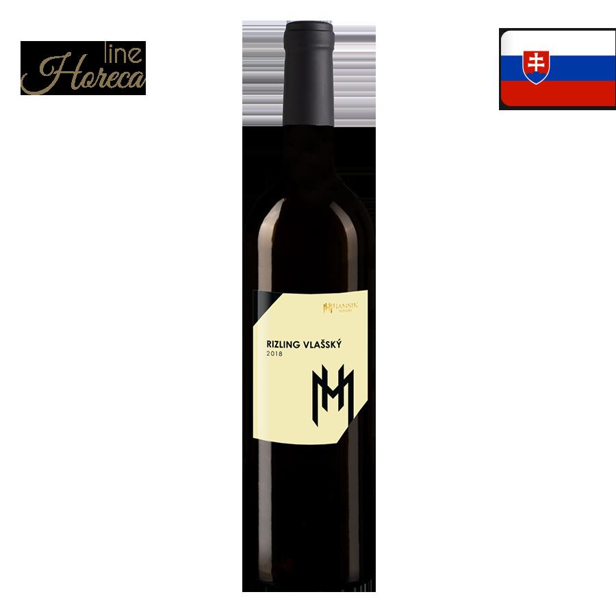 Hamsik winery Rizling Vlašský 2018 - Slovenské biele víno - polosuché fľaša 0,,75l
