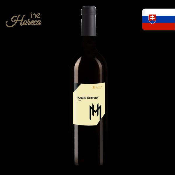 Tramín červený 2018 - Slovenské biele víno - polosuché fľaša 0,75l